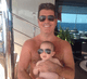 "Simon Cowell showed how his son, Eric, was ""taking after daddy."" Source: Twitter user simoncowell"
