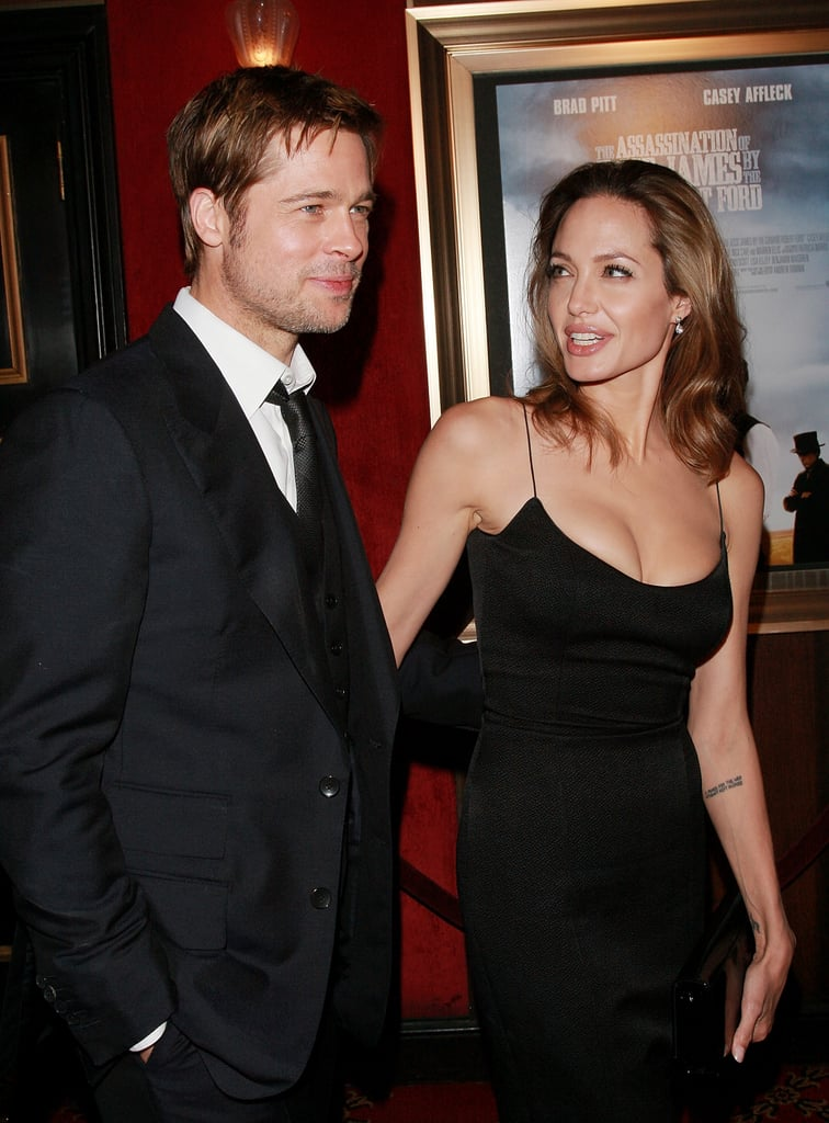 Brad Pitt and Angelina Jolie attended The Assassination Of Jesse James premiere at NYC's Ziegfeld Theater September 2007.