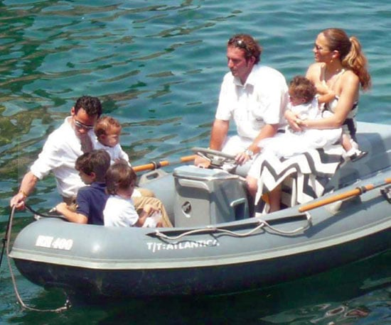 Photo Slide of Jennifer Lopez and Marc Anthony on a Boat Off St. Tropez With Twins Max and Emme