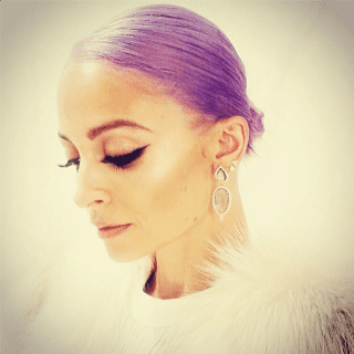 Nicole Richie Purple Hair Instagram Photo