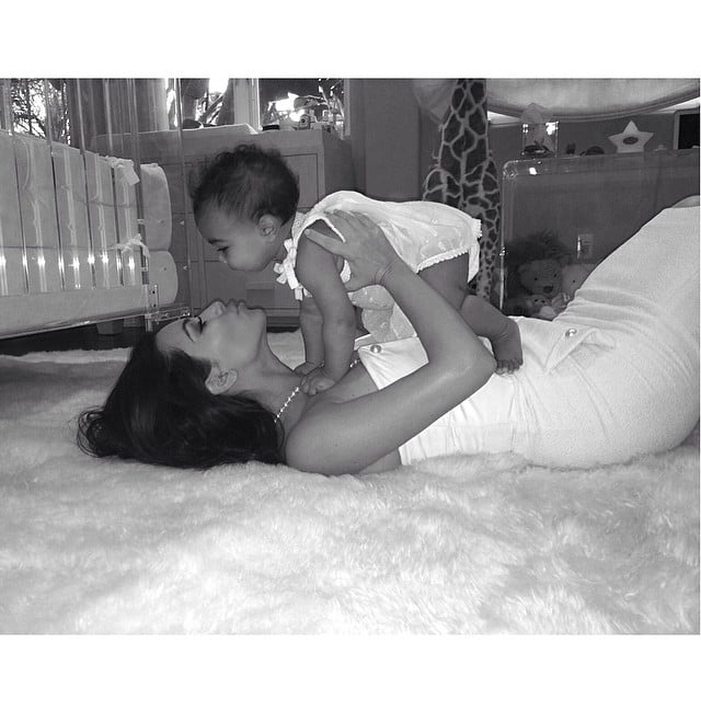 "Kim Kardashian had a loving moment with her daughter, North. ""This little girl has changed my world in more ways than I ever could have imagined! Being a mom is the most rewarding feeling in the world! Happy Mothers Day to all of the moms out there!"" she wrote.  Source: Instagram user kimkardashian"