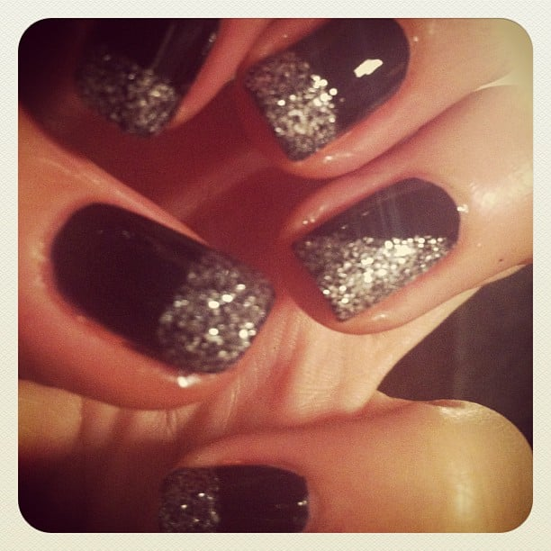 Associate ed Alison's new DIY mani obsession — glitter.