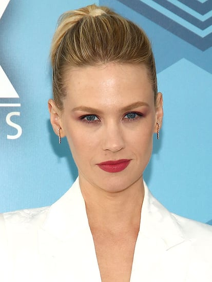 Look of the Week: January Jones' Ponytail-Braid Hybrid for the Fox Upfront