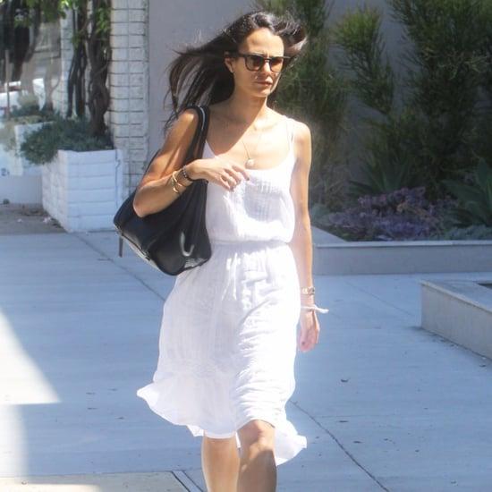 Jordana Brewster Wearing White Dress September 2015