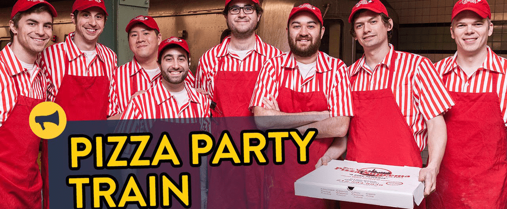 This Surprise Pizza Party Is Probably the Best Thing That Could Happen on the Subway