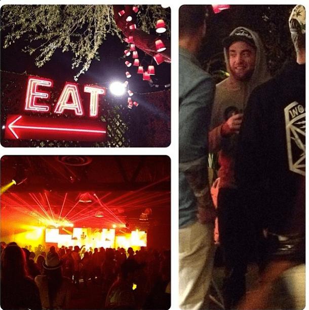 Robert Pattinson remained low-key in a hoodie and a baseball cap. Source: Instagram user itsjenniferward