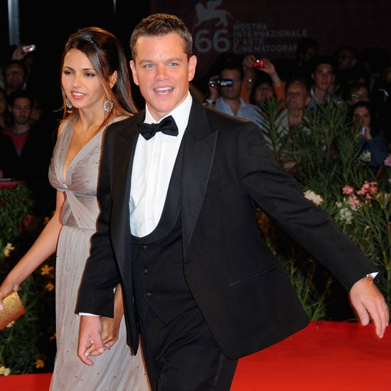 Matt Damon brought wife Luciana Barroso to The Informant premiere in 2009.