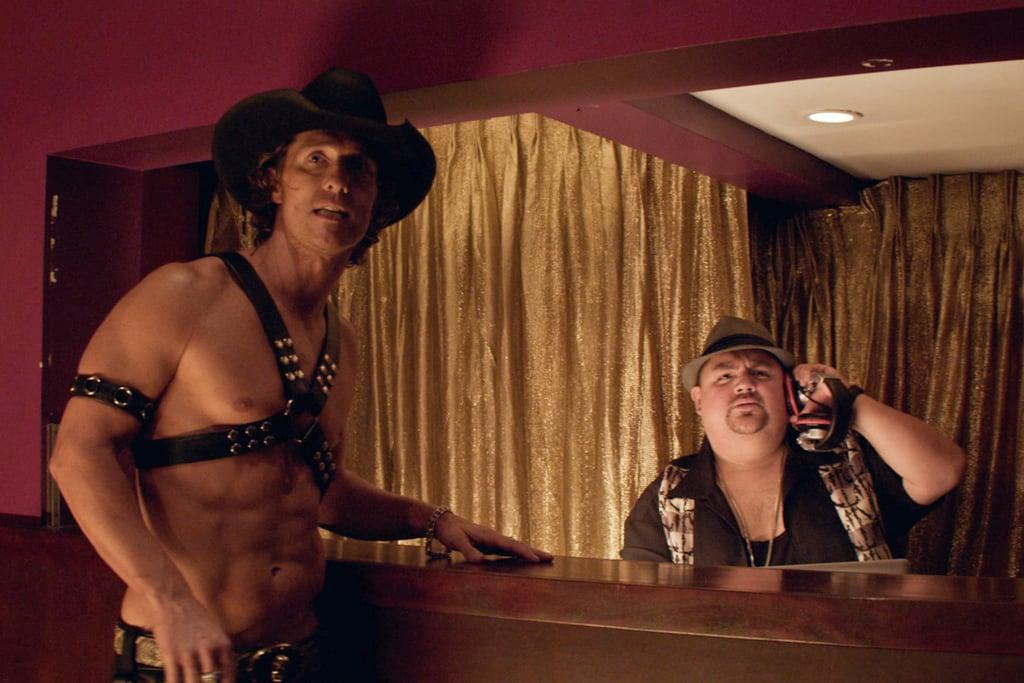 Matthew McConaughey and Gabriel Iglesias in Magic Mike.