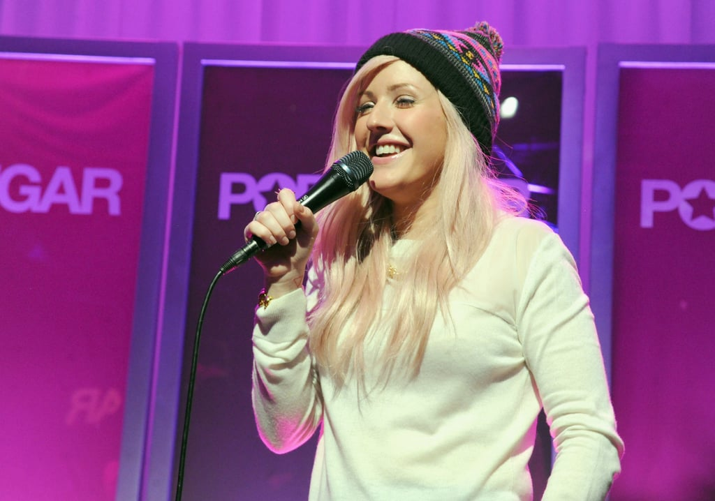 Ellie Goulding chatted up the crowd before beginning her performance.