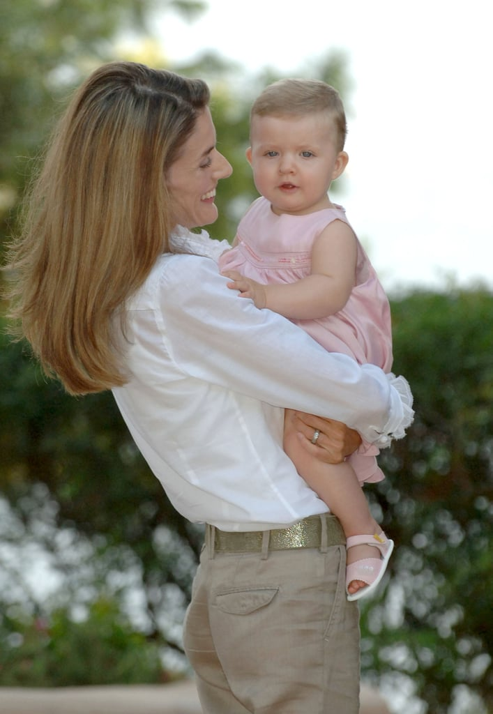 She glowed during a portrait session with her daughter, Princess Leonor, in August 2006.