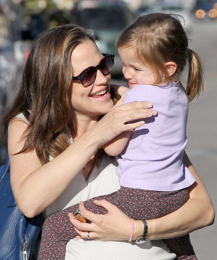 Jen and Seraphina were all smiles yesterday in LA.