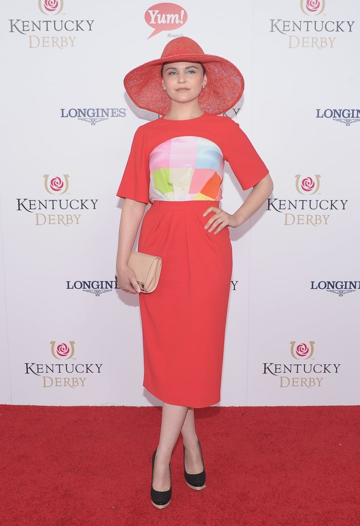 Ginnifer Goodwin looked sleek and sophisticated in a bright dress and matching hat for the 2012 festivities.