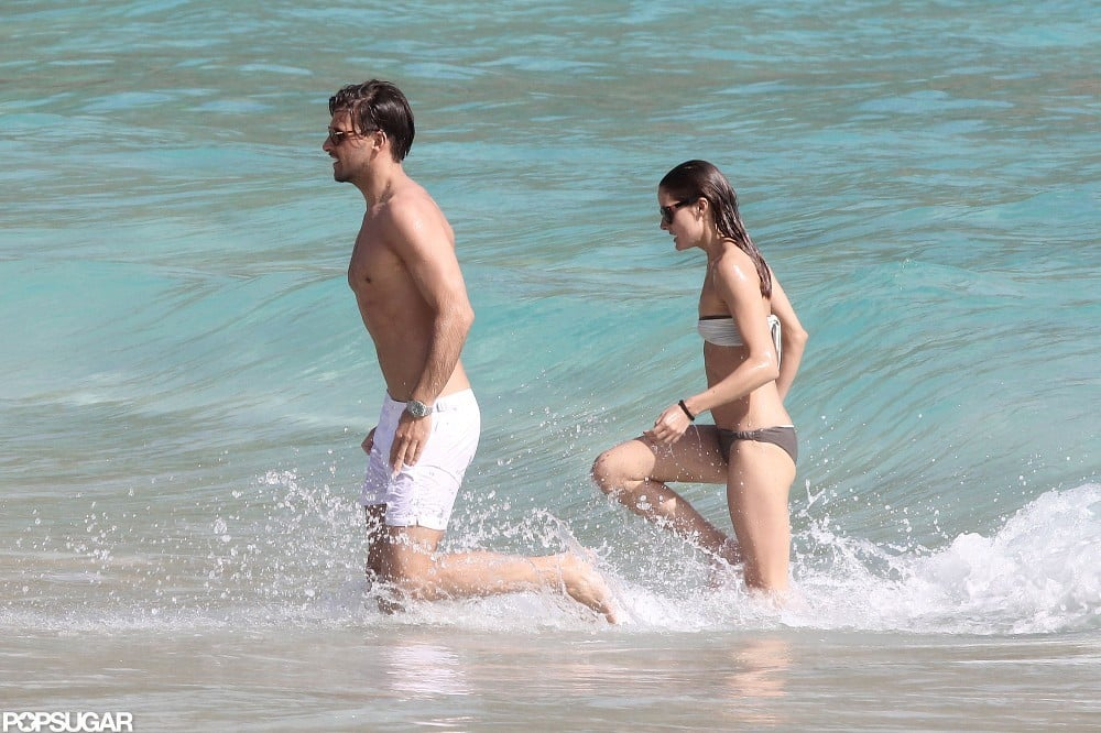 Olivia Palermo was in a bikini during her St. Barts vacation.