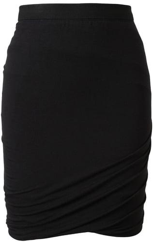 T By Alexander Wang Draped Stretch Jersey Miniskirt