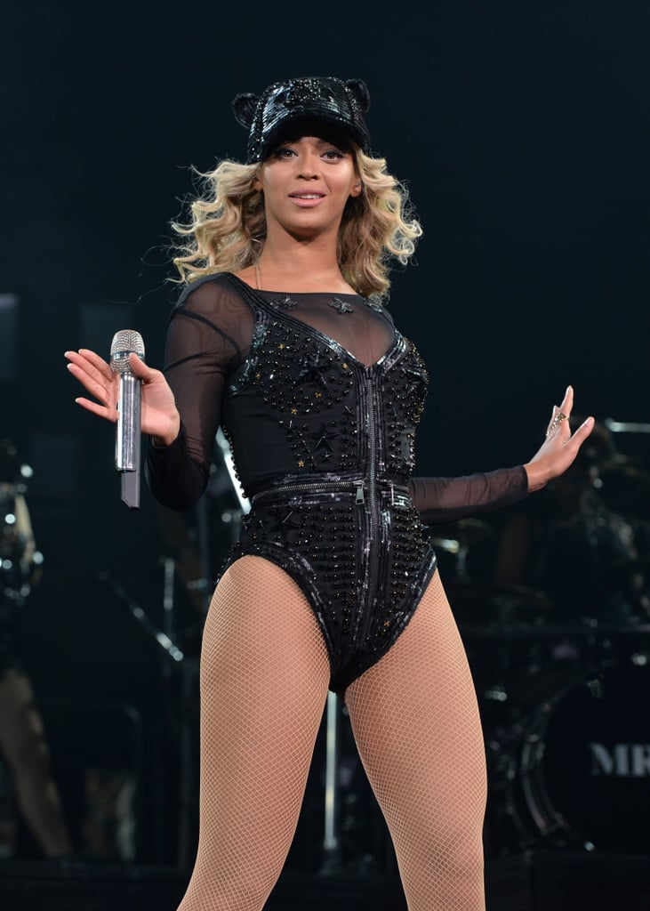 Beyoncé piled on the sequins during her Mrs. Carter Show performance.