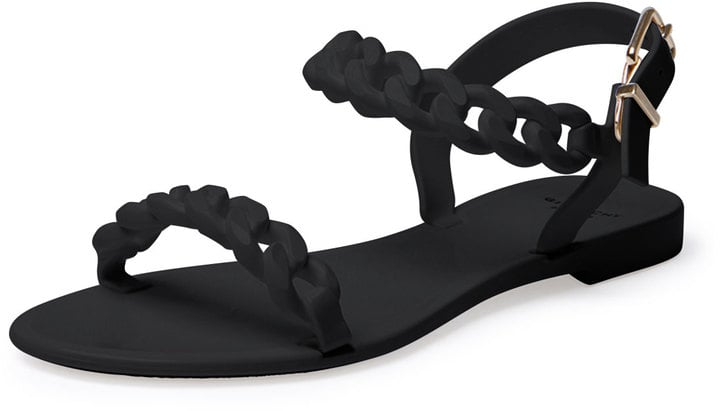 Givenchy Jelly Chain-Link Flat Sandals