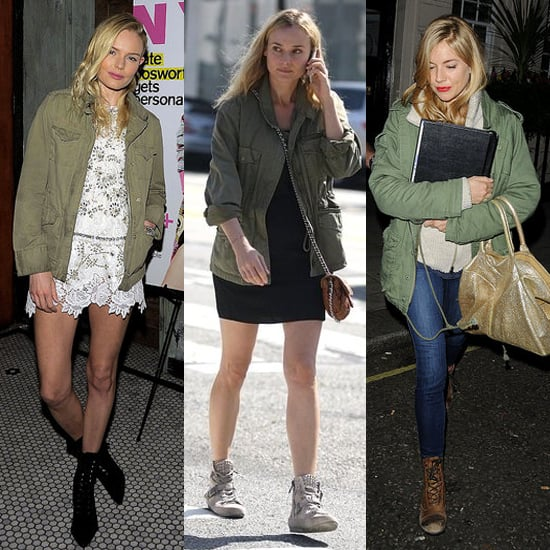 Kate Bosworth, Diane Kruger, and Sienna Miller Prove the Spring Army Jacket Is a Trend For Spring