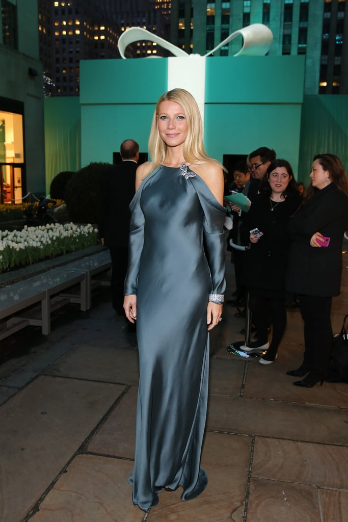She's already turned out a chic lineup of looks promoting Iron Man 3, but Gwyneth Paltrow hardly took a time-out, giving us another glamorous look in a soft blue Ralph Lauren gown accessorized with major jewels from the night's sponsor at the Tiffany & Co. Blue Book Ball.