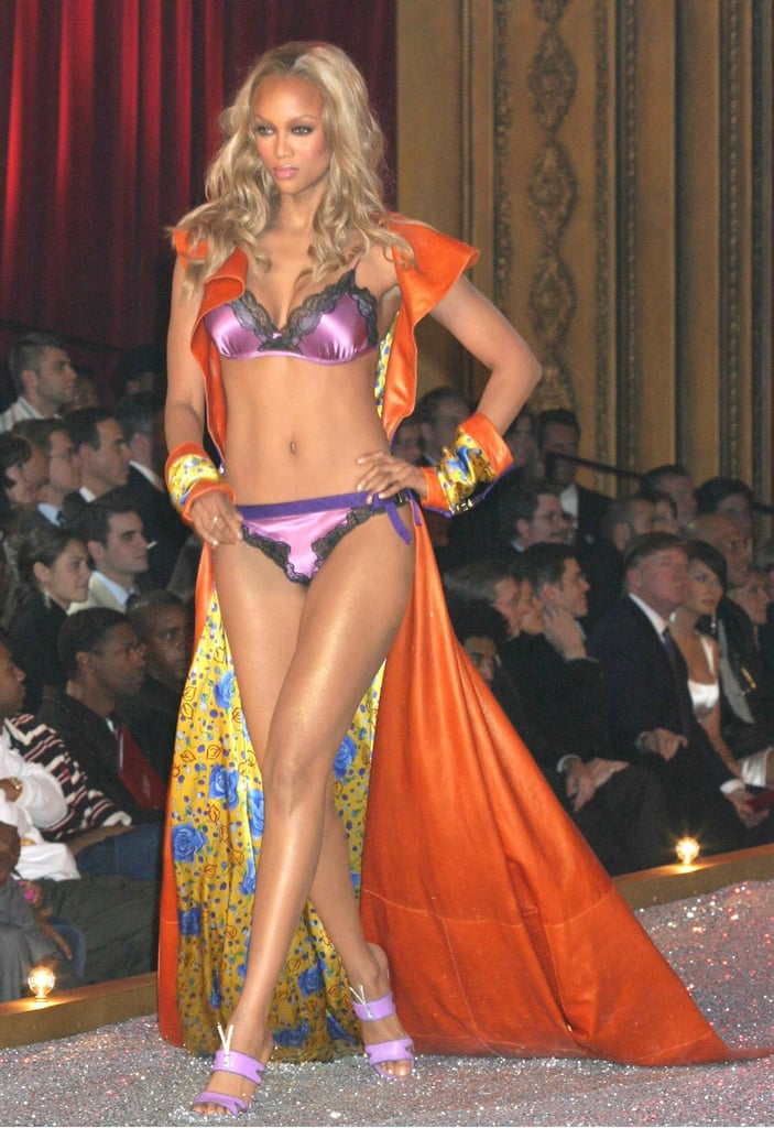 Tyra Banks sported a colorful getup in 2003.