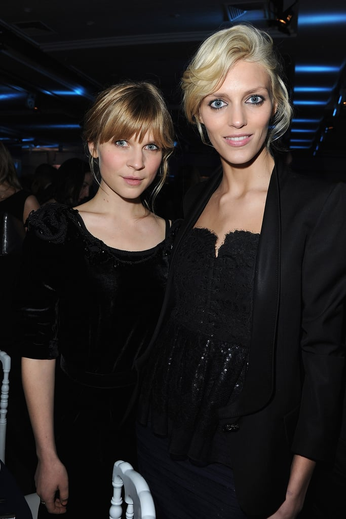 Clemence Poesy attended the 10th annual Sidaction gala in Paris in Nina Ricci and posed with model Anja Rubik.