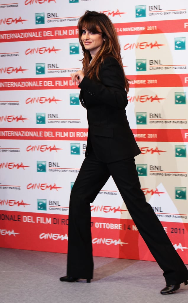 Penelope Cruz waved to fans and members of the press.