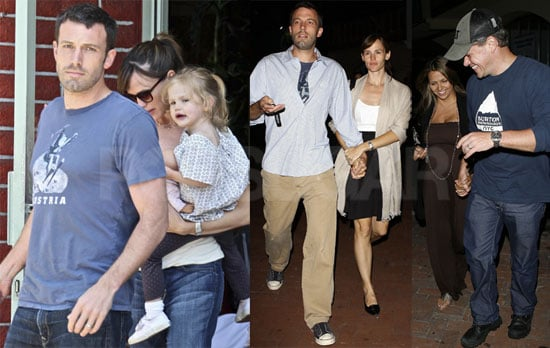 Photos of Ben Affleck and Jennifer Garner Out to Dinner with Matt Damon and Luciana Barroso