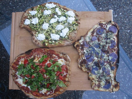 Red, White, and Blue Pizzas