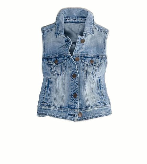We'd throw this American Eagle denim vest ($50) over a plaid button-down for a grunge vibe or layer it over a day dress to toughen it up.