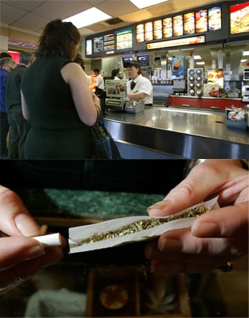 Man Tries to Pay For McDonald's Meal With Pot