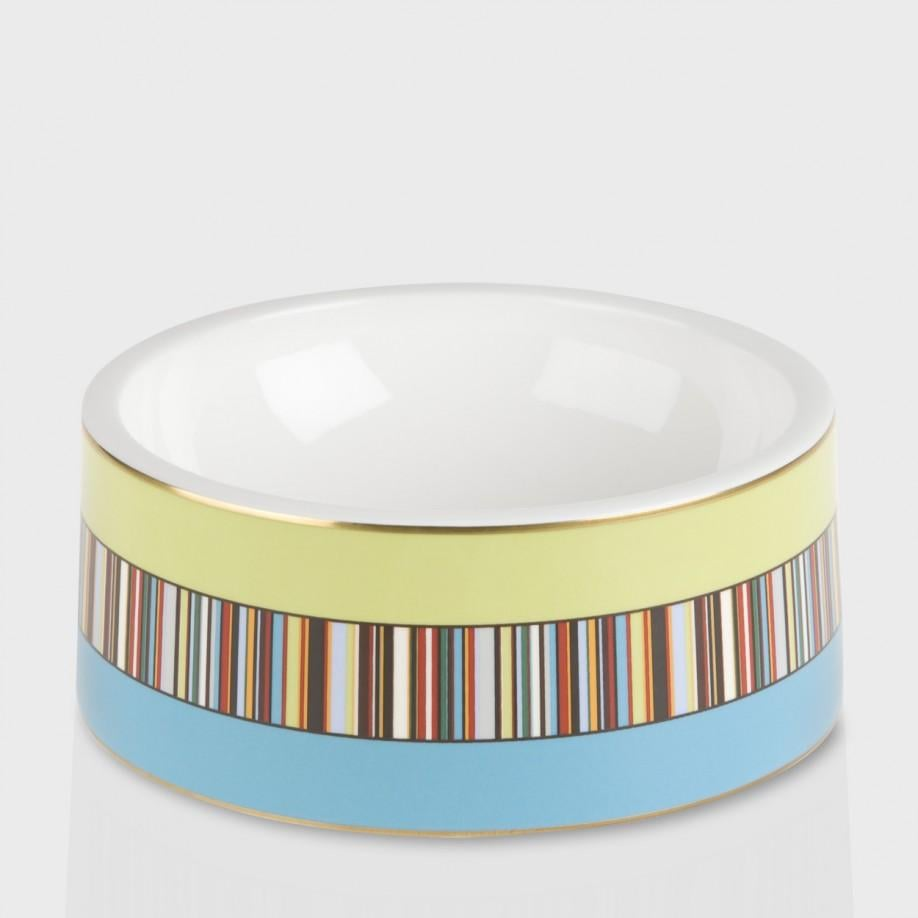 What do you get when you pair up two distinguished British designers? A Paul Smith x Thomas Goode dog bowl ($140) that puts your wedding china to shame, of course.