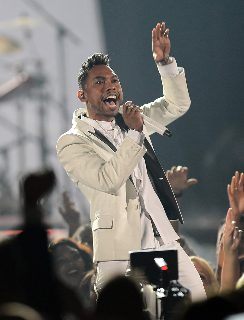 Miguel performed at the Billboard Music Awards.