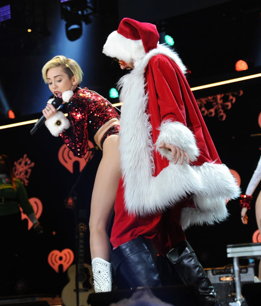 Miley Cyrus performed onstage at the Z100 Jingle Ball in NYC.