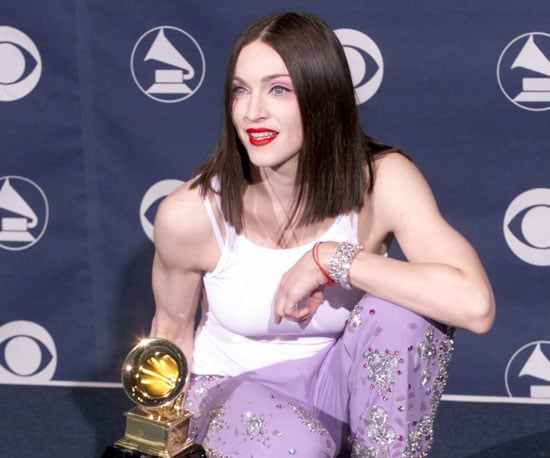 Madonna posed with one of her many awards from the 1999 ceremonies.