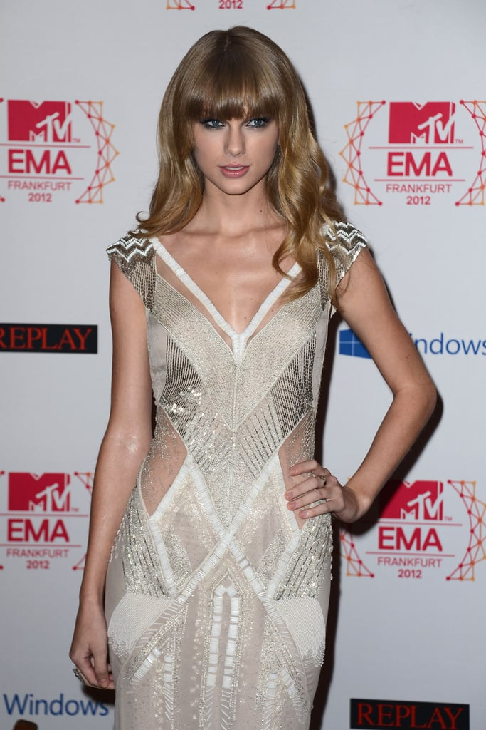 Taylor Swift posed on the red carpet at the MTV EMAs in Frankfurt.