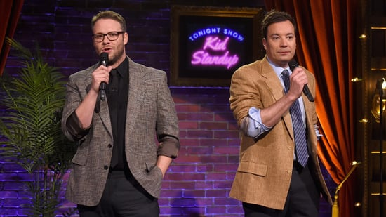 Seth Rogen and Jimmy Fallon Tell Ridiculous Jokes Written By Children in 'Kid Stand-Up' Sketch on 'Tonight Show'