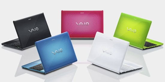 Photos of Sony Vaio E Series Notebooks