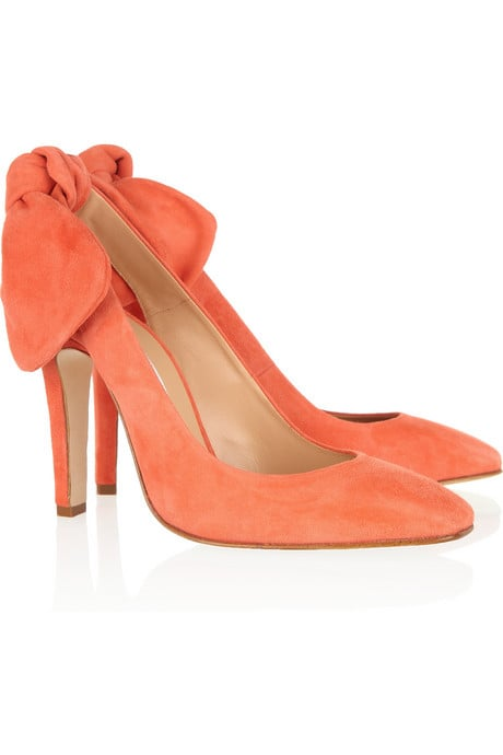 A suede finish and bow detail gives these a fresh Spring update.  Carven Slingback Bow Pump ($595)