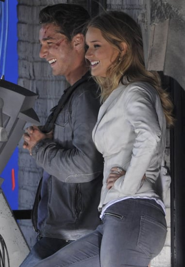 Pictures of Rosie Huntington-Whiteley and Shia LaBeouf Filming Transformers 3 In Culver City, CA