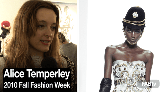 Alice Temperley Interview at New York Fashion Week 2010