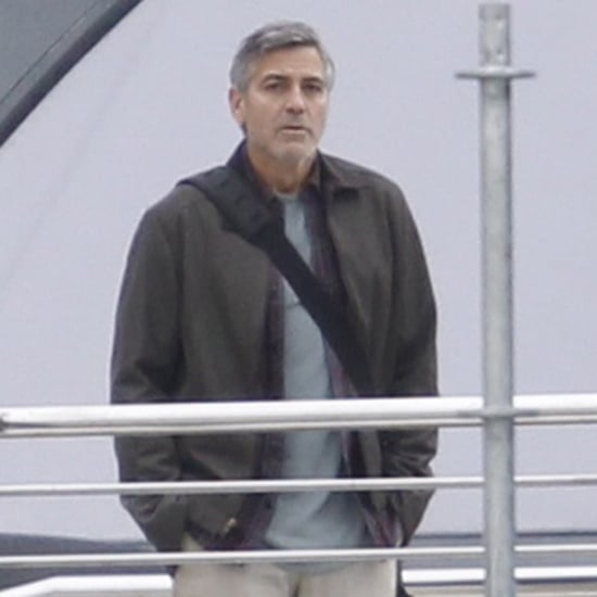 George Clooney on the Set of Tomorrowland
