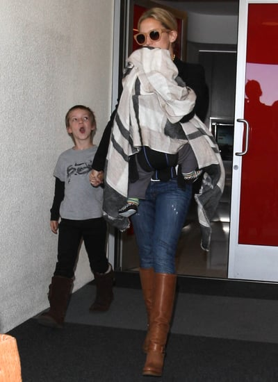 Kate Hudson arrived at LAX with her sons.