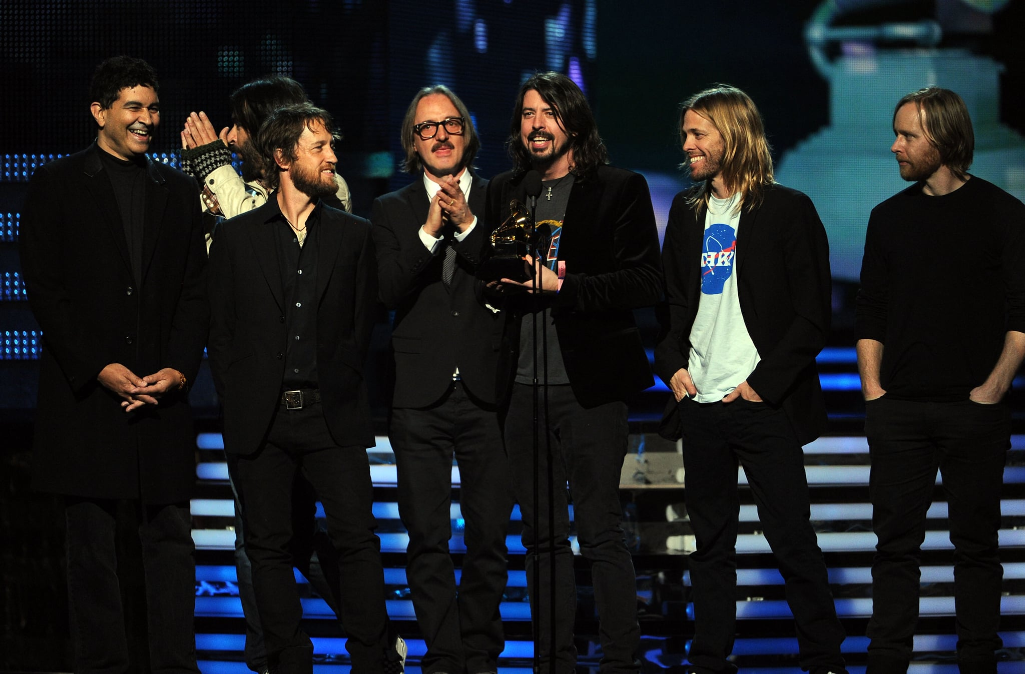 The Foo Fighters happily accepted their latest Grammy Award.