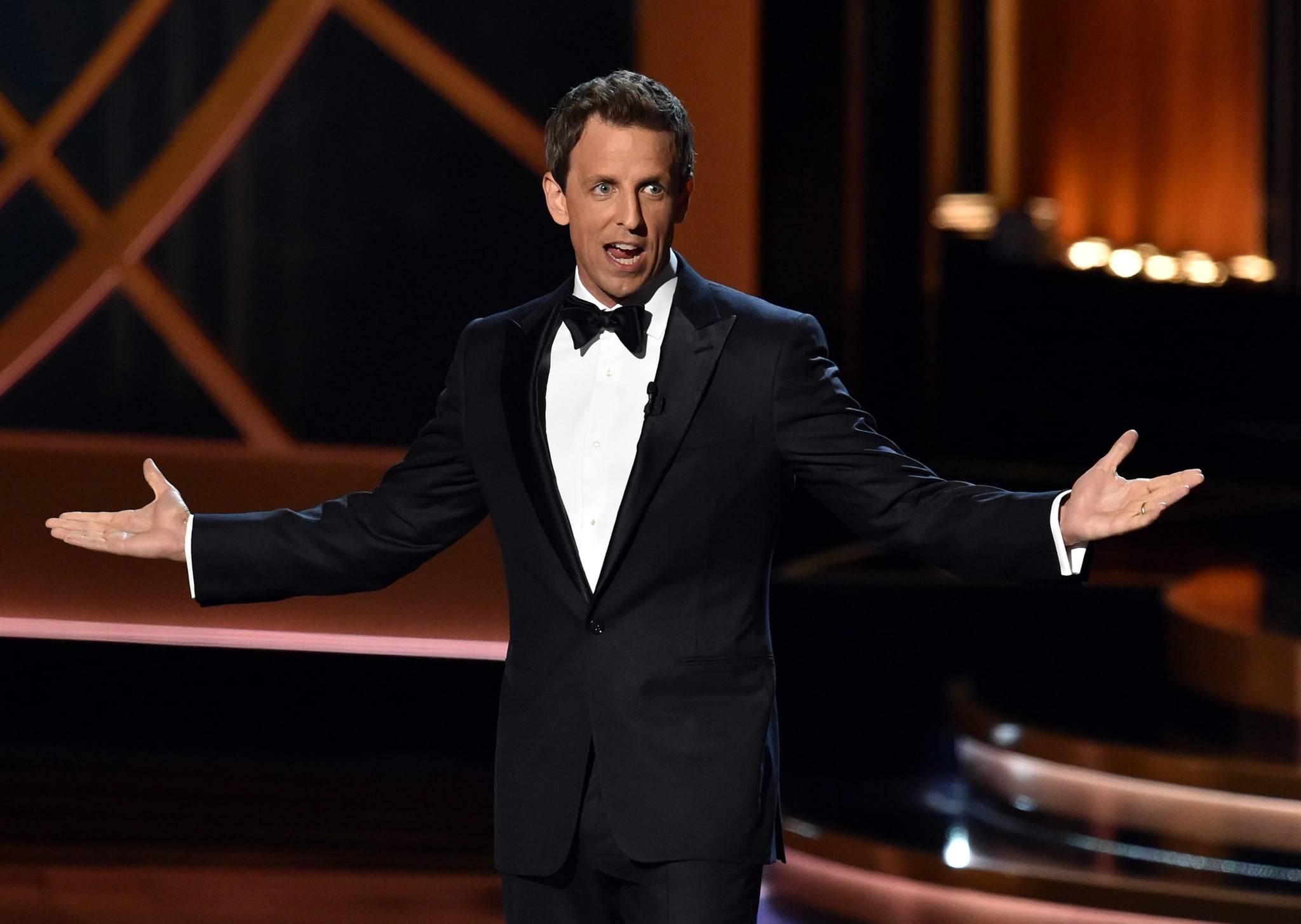 """""""Not to be outdone, NBC is also a network."""" — Host Seth Meyers, reminding his home network that it's not doing very well"""