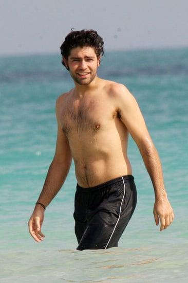 Pictures of Entourage Star Adrian Grenier Shirtless in Miami 2011