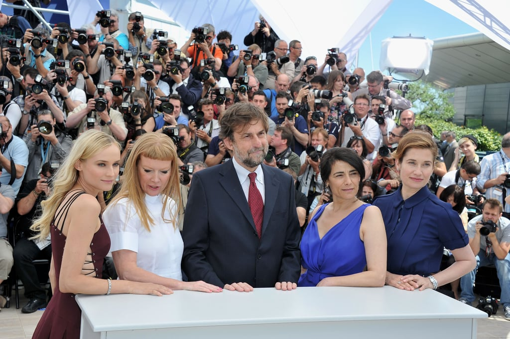 Diane Kruger posed with Andrea Arnold, Nanni Moretti, Hiam Abbass, and Emmanuell Devos at the jury photocall in Cannes.