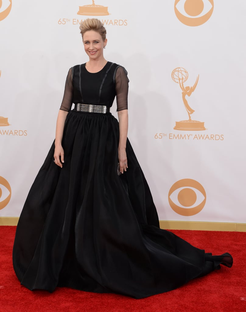 Vera Farmiga donned a dramatic gown for the Emmys.