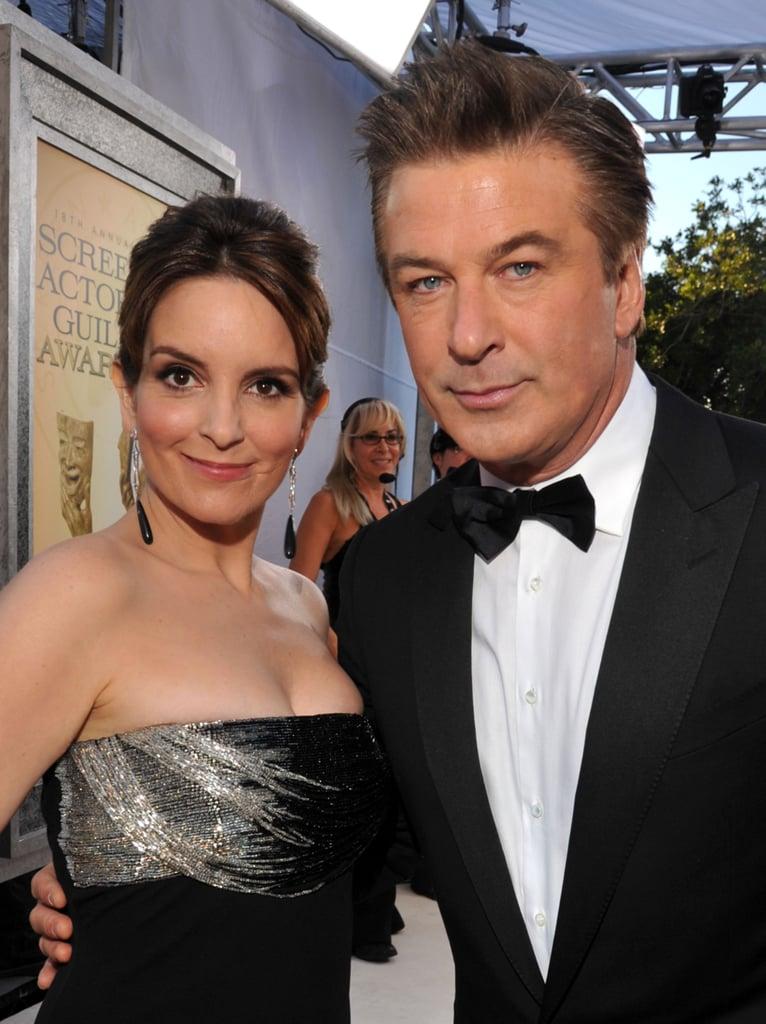 Tina Fey and Alec Baldwin arrived at the 2012 SAG Awards.