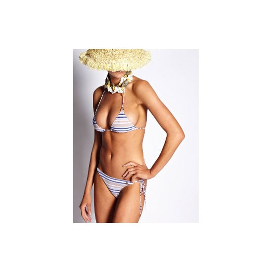I follow a few simple rules when choosing swimwear— keep the silhouette fuss-free (bandeau or tri-tops only) and hipster briefs are my friend. — Marisa, publisher Bikini, $185, Anna & Boy