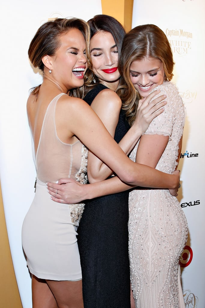 Sports Illustrated's 50th anniversary cover girls, Chrissy Teigen, Lily Aldridge, and Nina Agdal, snapped this cute photo at a party celebrating the issue.