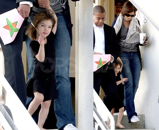 Photos of Suri Cruise and Katie Holmes Leaving a Dance Studio in LA